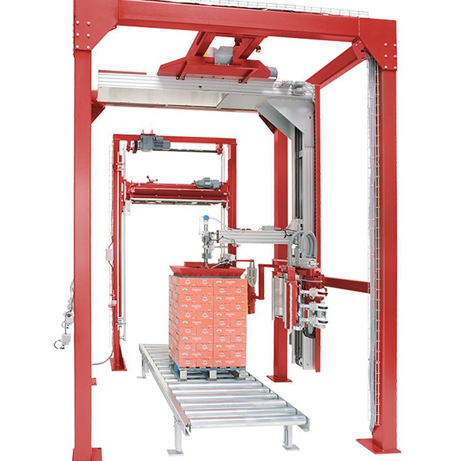 Liegat-LITOMAT S500 - vollautomatische Stretchfolien-Verpackungsanlage
