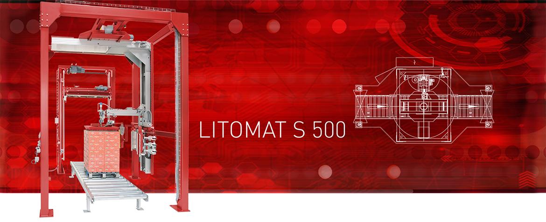 Liegat-LITOMAT S500 - vollautomatische Stretchfolien-VerpackungsanlaS5