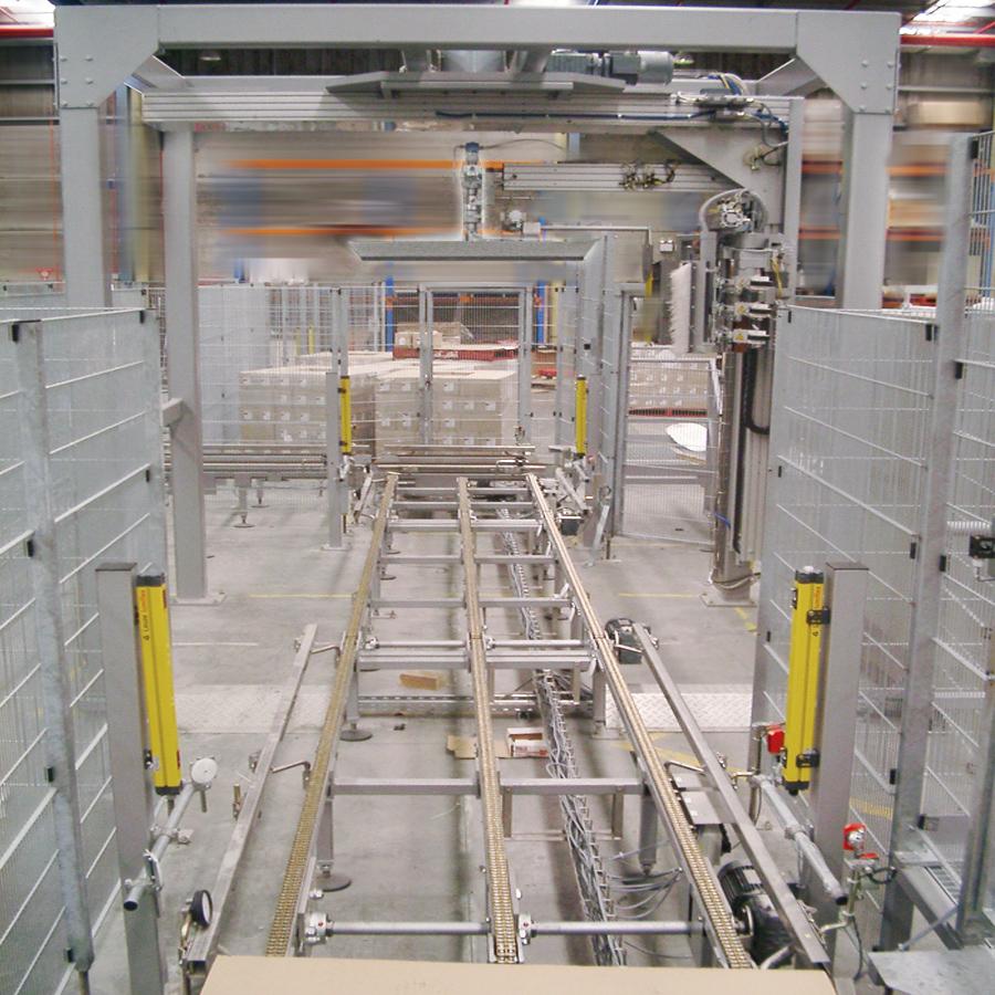 Liegat-Palettenfördertechnik